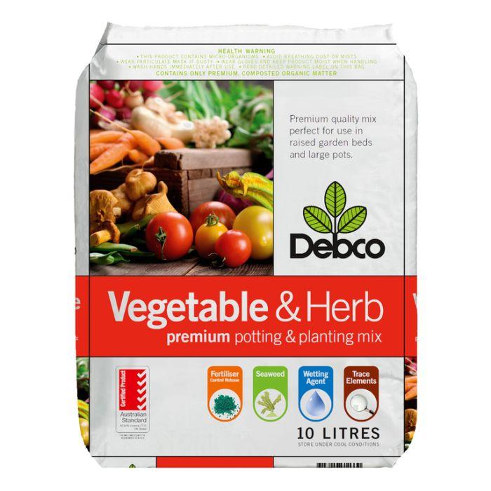 Debco Vegetable & Herb Premium Potting & Planting Mix  ] 9313209610330P - Flower Power