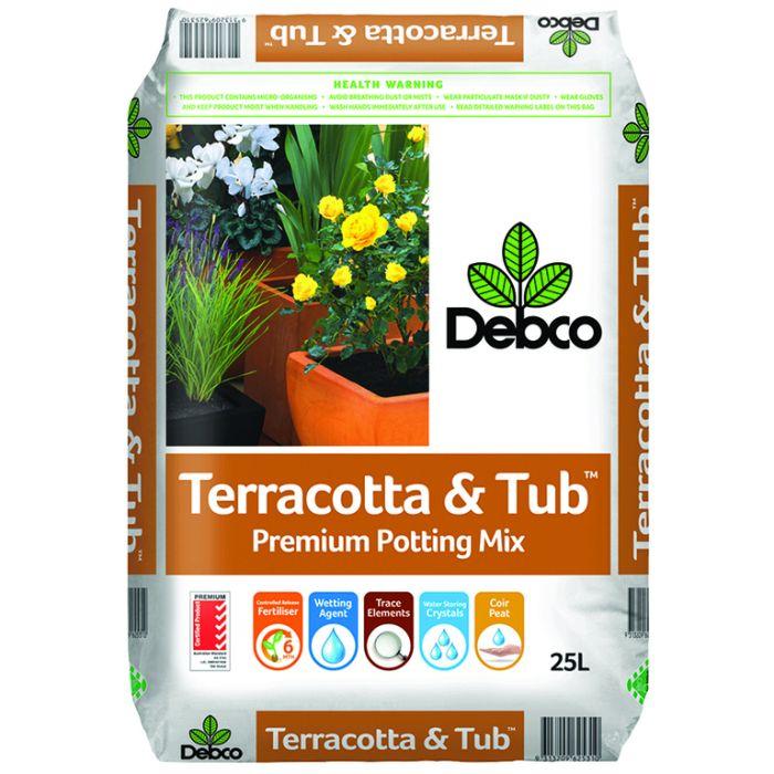 Debco Terracotta & Tub Superior Potting Mix  ] 9313209625310 - Flower Power