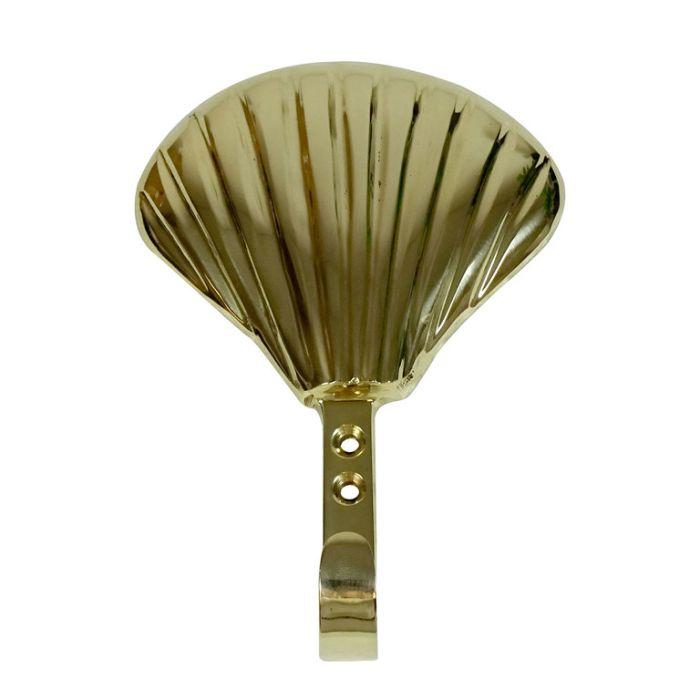 Wall Hook Scallop Brass  ] 9315138113111 - Flower Power