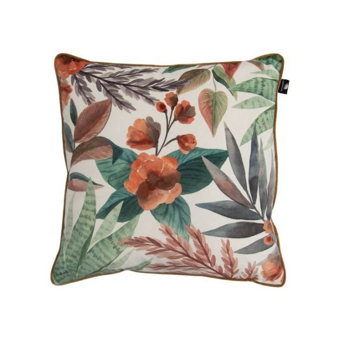 Madras Link Orange/Green Succulent Cushion  ] 9320947158147 - Flower Power