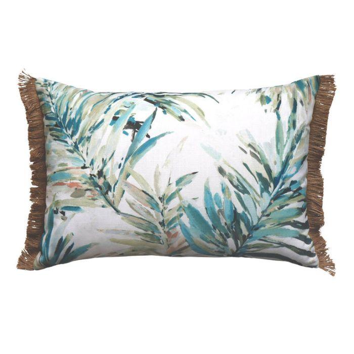 Madras Link Florida Aqua Cushion  ] 9320947165213P - Flower Power