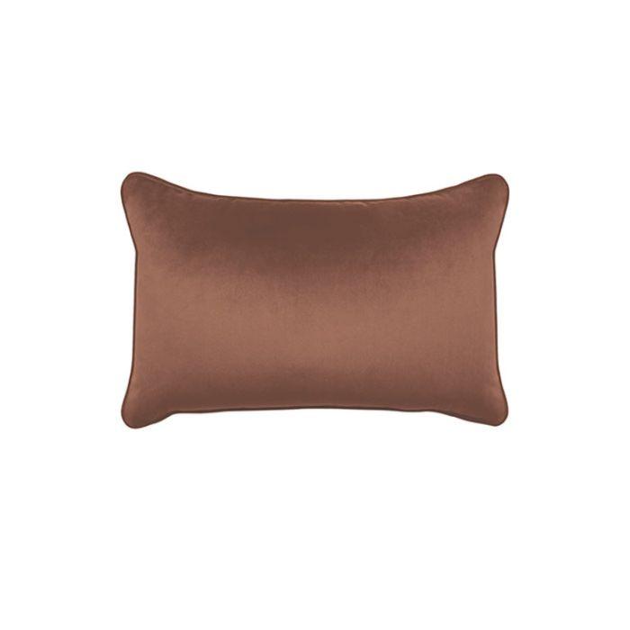 Madras Link Mira Velvet Rust Rectangular Cushion  ] 9320947165305 - Flower Power