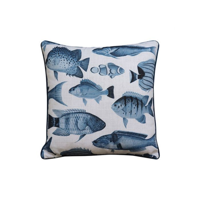 Madras Link Shoal Blue Cushion  ] 9320947166883 - Flower Power