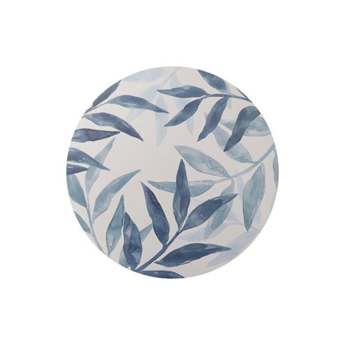 Madras Link Sorrento Round Placemat Set Blue  ] 9320947167439 - Flower Power