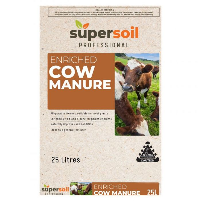Supersoil Professional Enriched Cow Manure  ] 9329107001002 - Flower Power