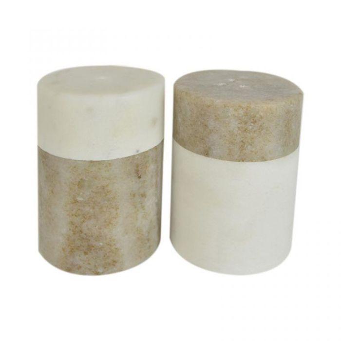 Marble Salt & Pepper Shaker Beige  ] 9330049396507 - Flower Power