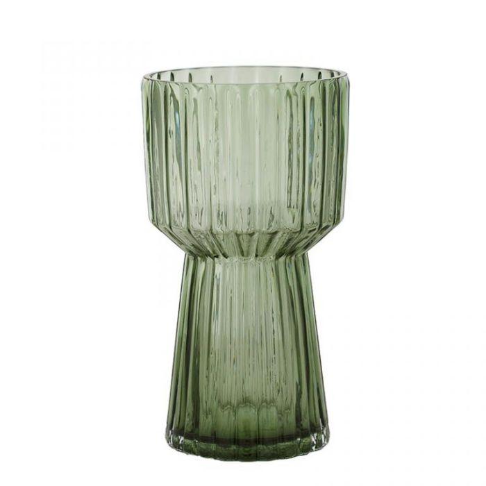 Birk Glass Vase Green  ] 9330049532370 - Flower Power