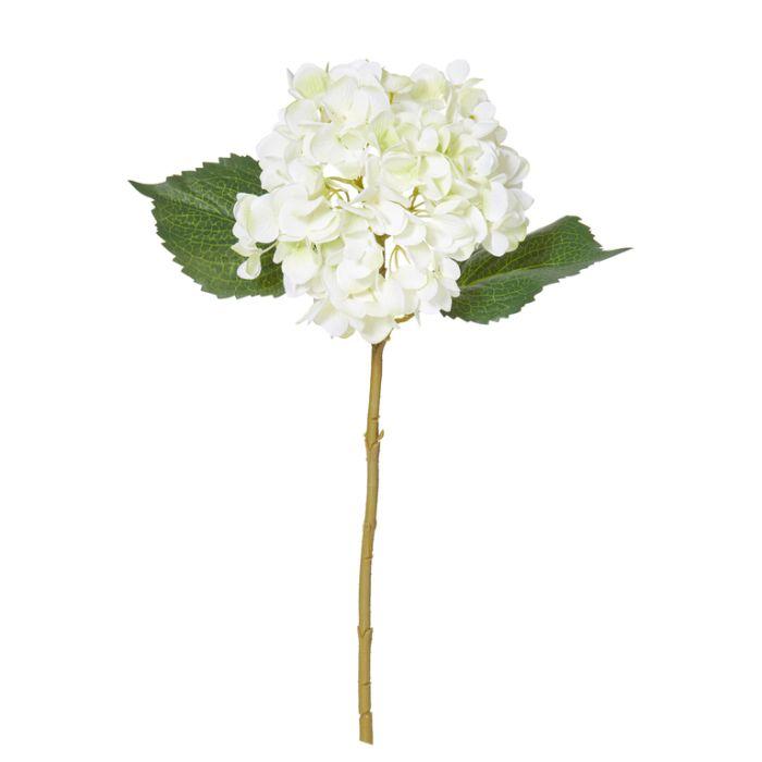 Artificial Hydrangea Stem White  ] 9331460251024 - Flower Power