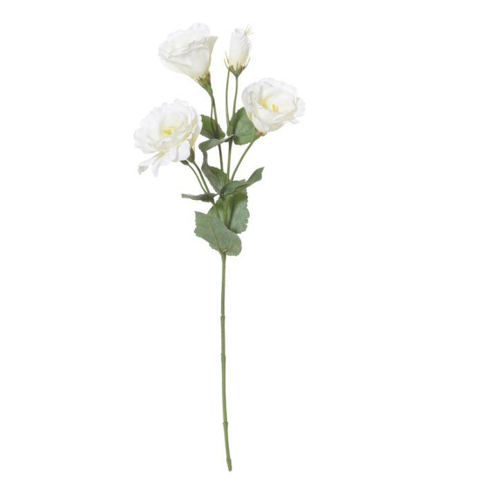 Artificial Lisianthus Spray White  ] 9331460268572 - Flower Power