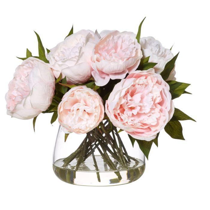 Artificial Peony Bowl A  ] 9331460287382 - Flower Power