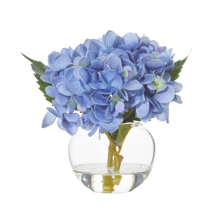 Artificial Hydrangea Sphere Vase Blue  ] 9331460287481P - Flower Power
