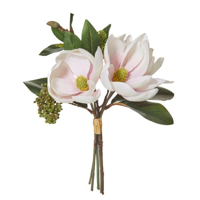 Artificial Bouquet Magnolia Soft Pink  ] 9331460295059 - Flower Power