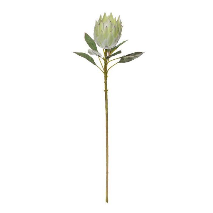 Artificial King Protea Stem Green  ] 9331460323417 - Flower Power