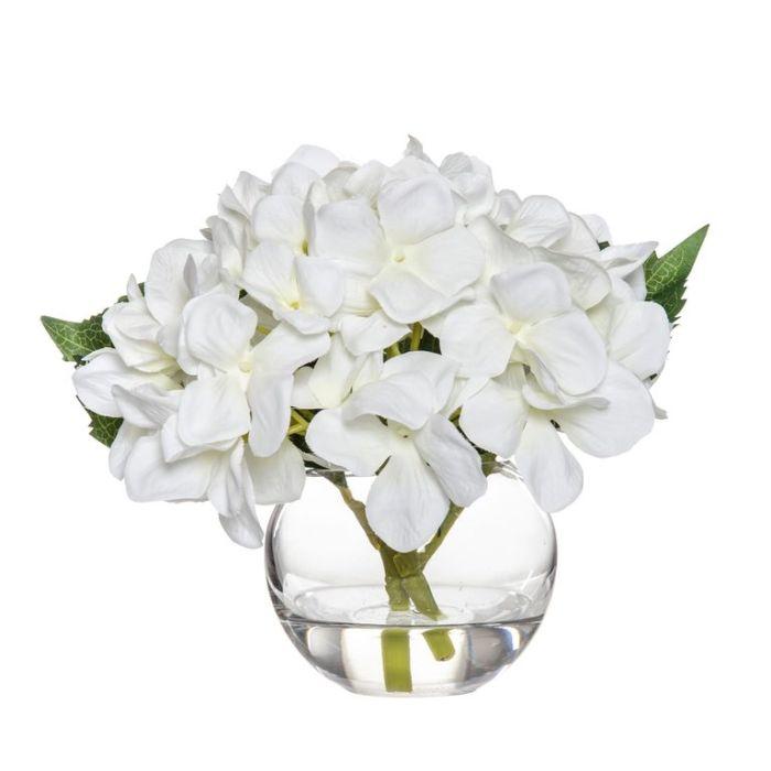 Artificial Hydrangea Sphere Vase  ] 9331460344757 - Flower Power