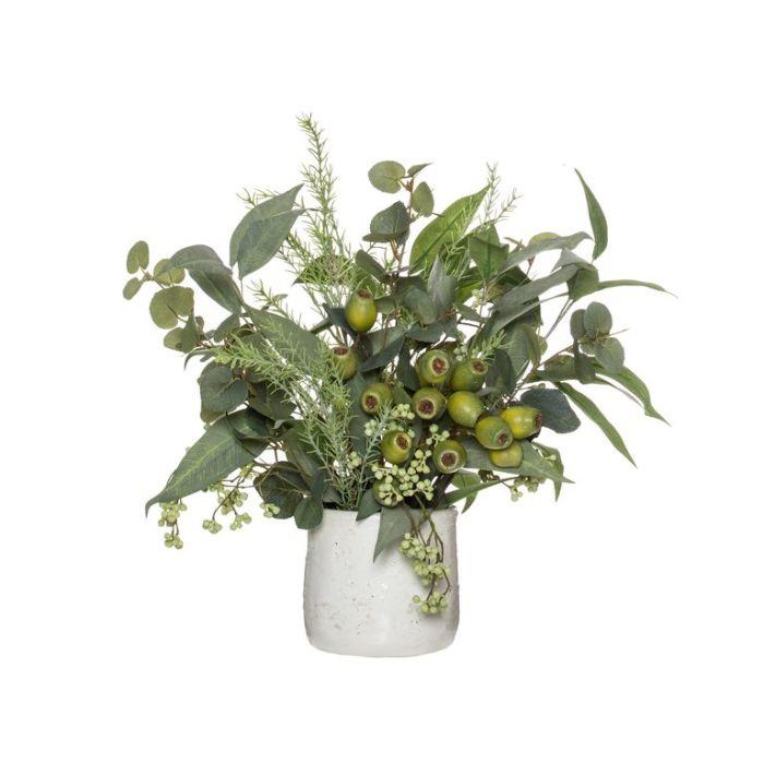 Artificial Native Mix Reese Pot Green  ] 9331460344795 - Flower Power