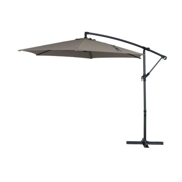 Cantilever Umbrella Taupe  ] 9333472592249 - Flower Power