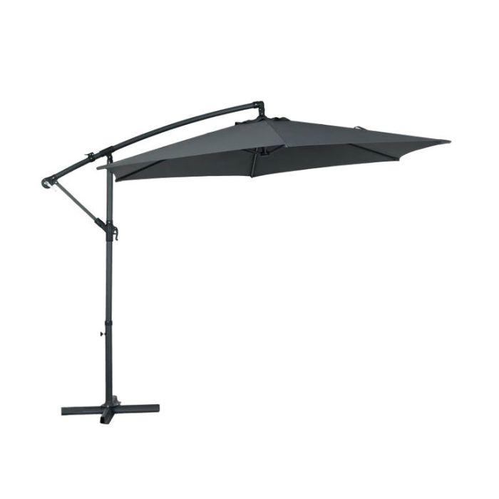 Cantilever Umbrella Charcoal  ] 9333472592256 - Flower Power