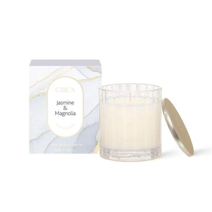 CIRCA Jasmine & Magnolia Soy Candle 60g  ] 9338817019047 - Flower Power