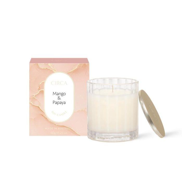 CIRCA Mango & Papaya Soy Candle 60g  ] 9338817019054 - Flower Power