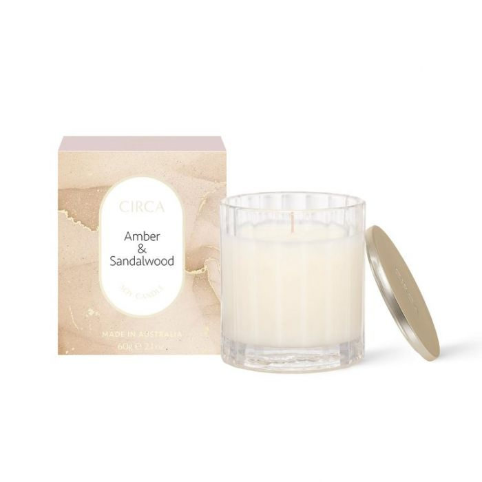 CIRCA Amber & Sandalwood Soy Candle 60g  ] 9338817019078 - Flower Power