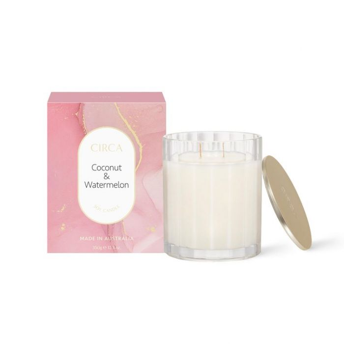 CIRCA Coconut & Watermelon Soy Candle 350g  ] 9338817019177 - Flower Power
