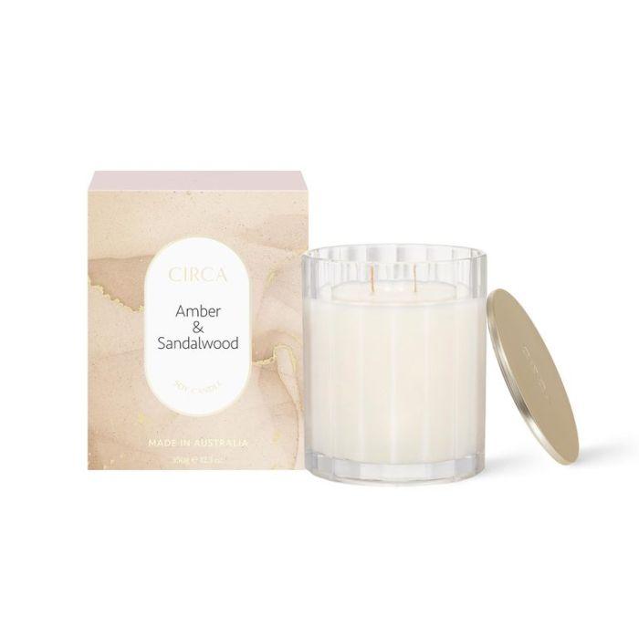 CIRCA Amber & Sandalwood Soy Candle 350g  ] 9338817019191 - Flower Power