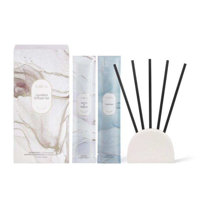 CIRCA Oceanique and Jasmine & Magnolia Liquidless Diffuser Set  ] 9338817019542 - Flower Power