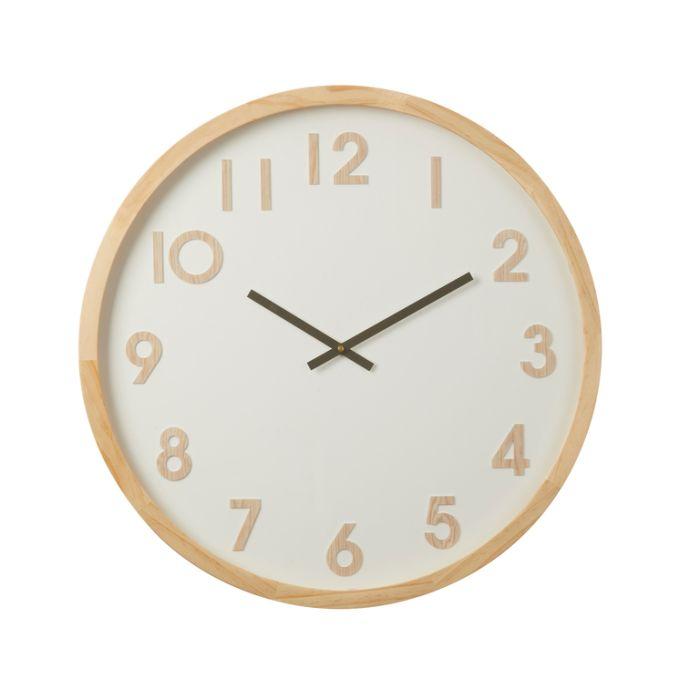 Leonard Wall Clock Natural  ] 9345869193281 - Flower Power