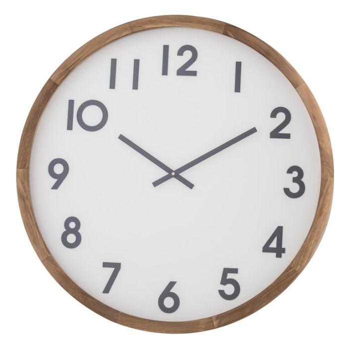Amalfi Leonard Wall Clock Black & White  ] 9345869211688 - Flower Power
