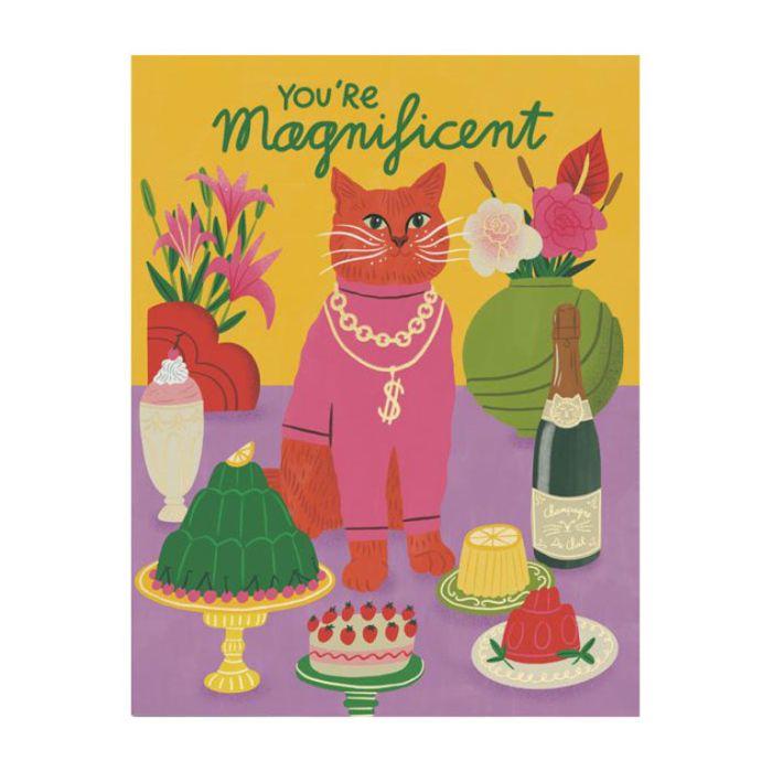 Almanac Gallery Magnificent Cat Foil Card  ] 9346109053754 - Flower Power