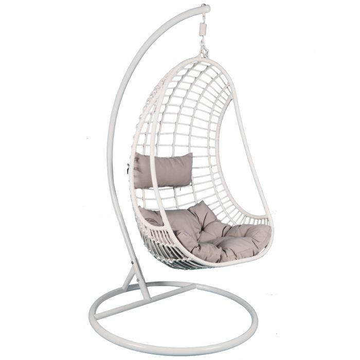 Fp Collection Hayman Outdoor Hanging Chair White