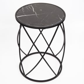 FP Collection Indoor Marble Side Table