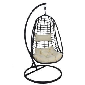 FP Collection Hayman Outdoor Hanging Chair Black
