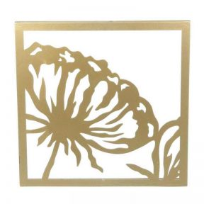 FP Collection Floral Metal Wall Art