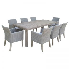 FP Collection Dune Outdoor Dining Chair Grey
