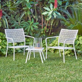 FP Collection Alfresco Outdoor 2 Seater Balcony Setting