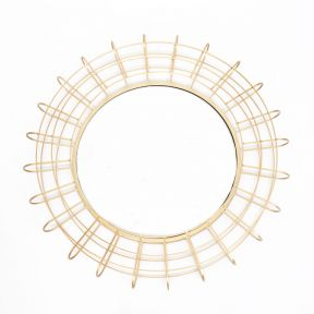 FP Collection Saturn Metal Wall Mirror
