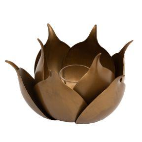 FP Collection Lotus Tealight Holder Bronze