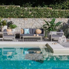 FP Collection Trinidad Outdoor 4 Seater Lounge Setting