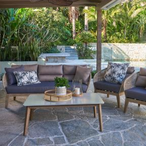 FP COLLECTION NORDIC OUTDOOR 4 SEATER LOUNGE SETTING