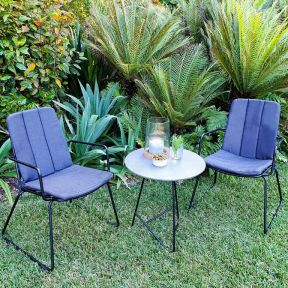 FP COLLECTION MANHATTAN OUTDOOR 2 SEATER BALCONY SETTING