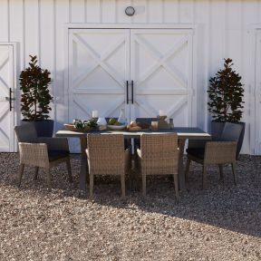 FP COLLECTION VINCENTIA OUTDOOR 6 SEATER DINING TABLE