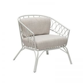 FP Collection Flynn Occasional Chair White