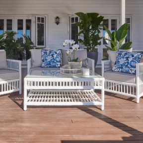 FP COLLECTION HAMPTONS OUTDOOR 4 SEATER LOUNGE SETTING