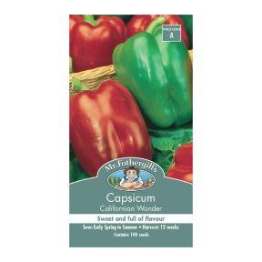 Mr Fothergill's Capsicum Californian Wonder  ] 5011775002149 - Flower Power