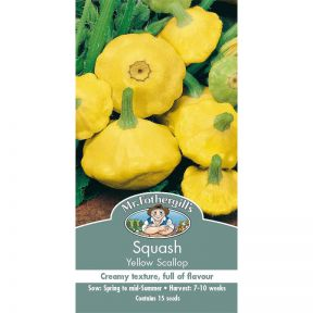 Mr Fothergill's Squash Yellow Scallop  ] 5011775053417 - Flower Power