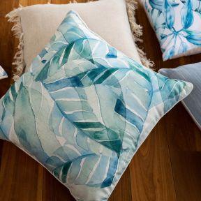 Madras Link Leaves Cushion