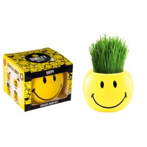 Grass Hair Kit Smiley Faces - Happy