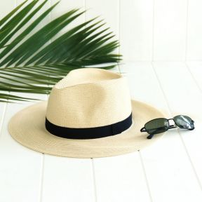Sundaise Roy Unisex Panama Hat Cream  ] 9347418010957 - Flower Power