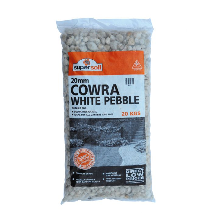 Cowra White Pebble 20mm Bag  ] 008920 - Flower Power